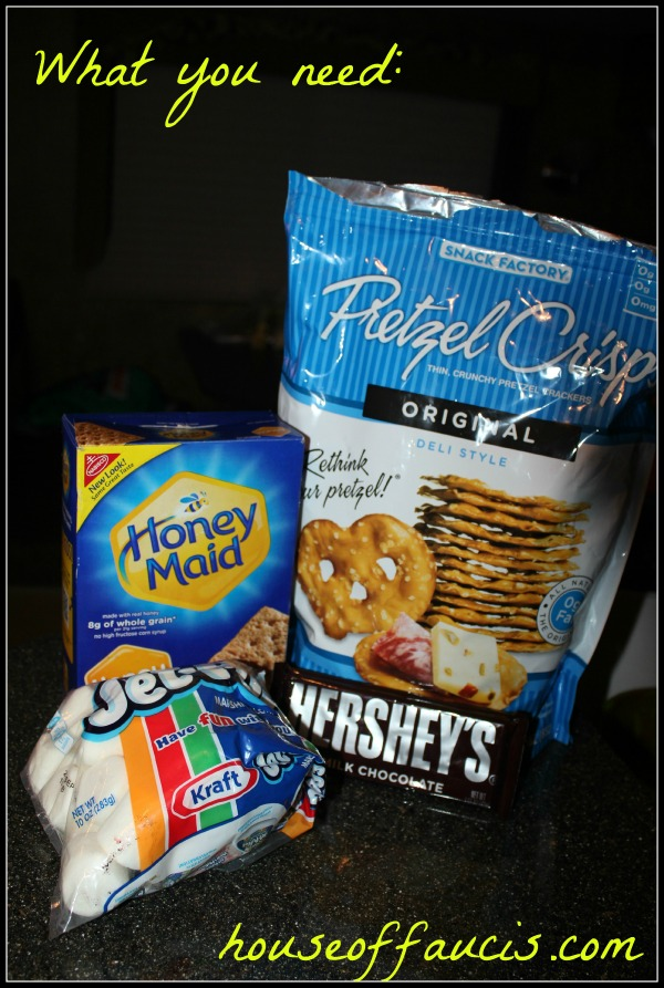 Sweet and Salty S'mores Ingredients