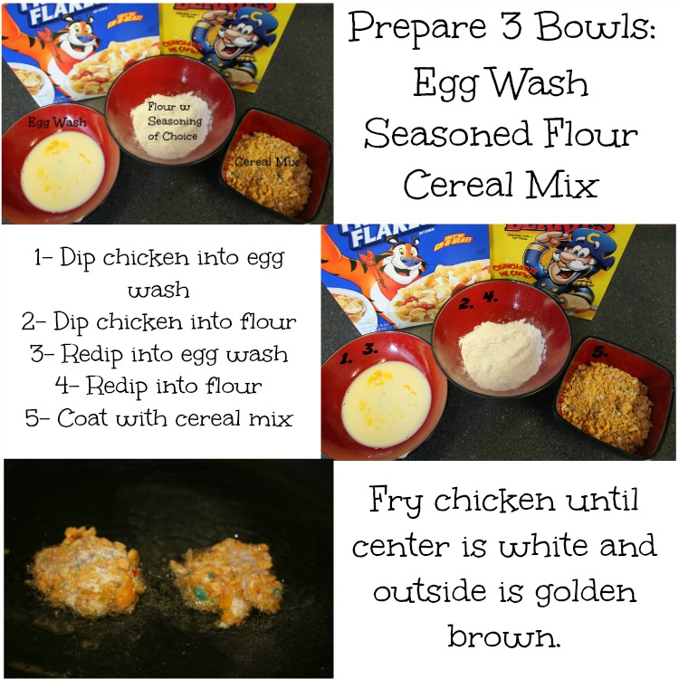 Cap'n Crunch Chicken Instructions