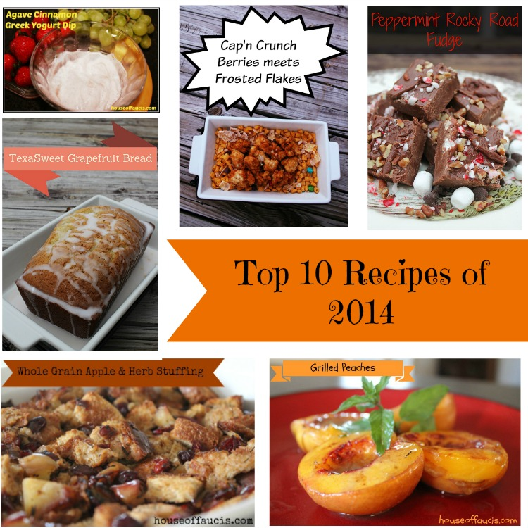 Top 10 House of Fauci's Recipes of 2014