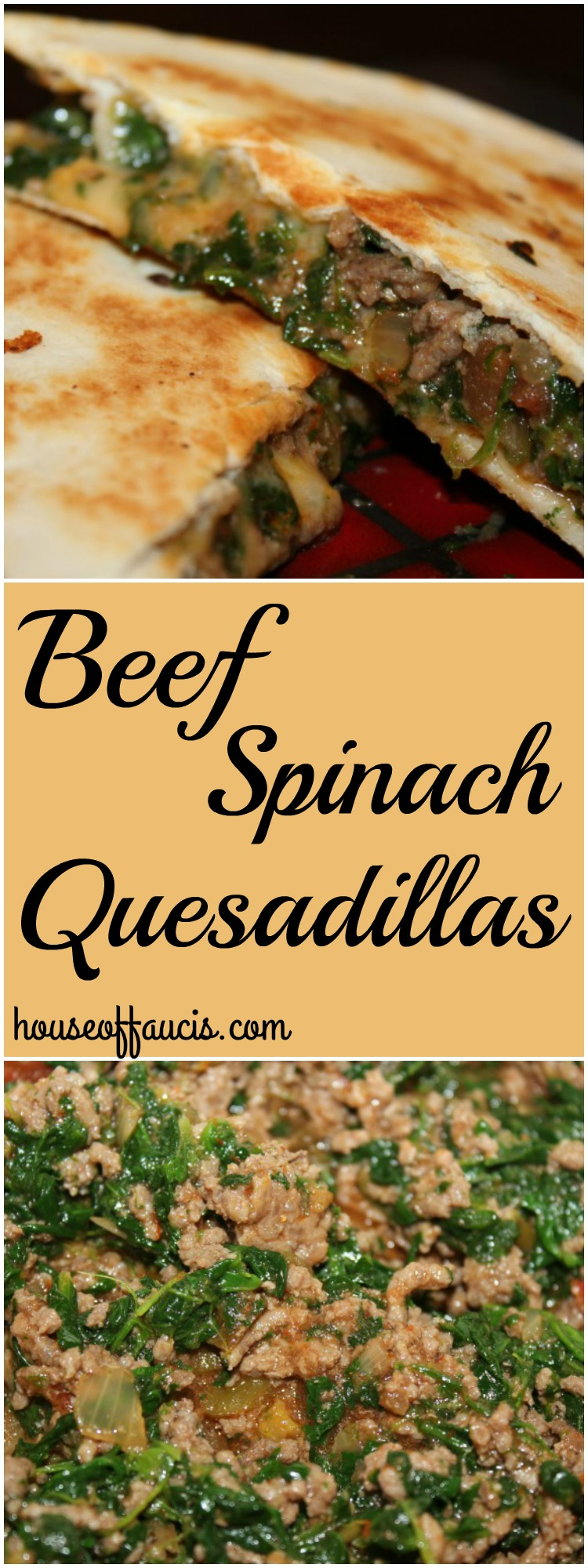 Beef Spinach Quesadillas Meal