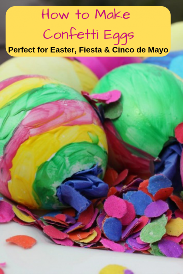 Confetti Eggs are easy and fun to make. They are perfect for Easter, Fiesta, and Cinco de Mayo.