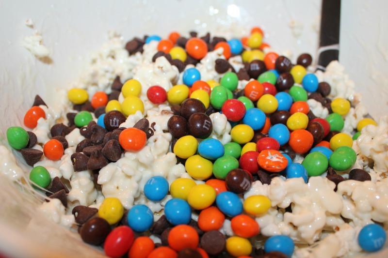 M&M's® Crispy Mix Popcorn Balls