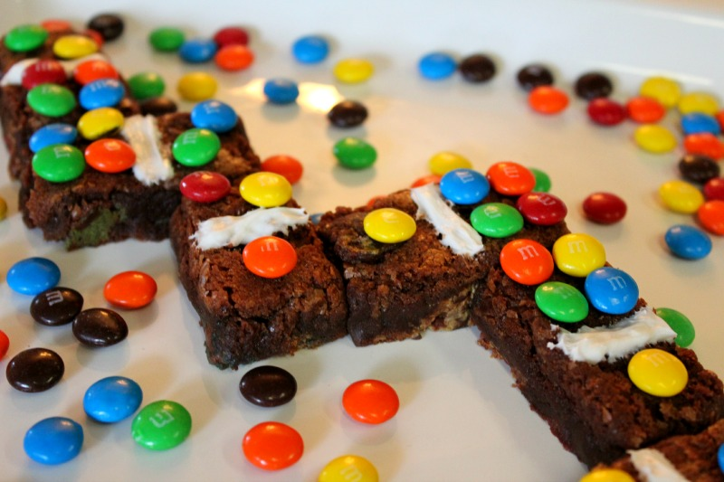 Domino Brownies with M&M's®
