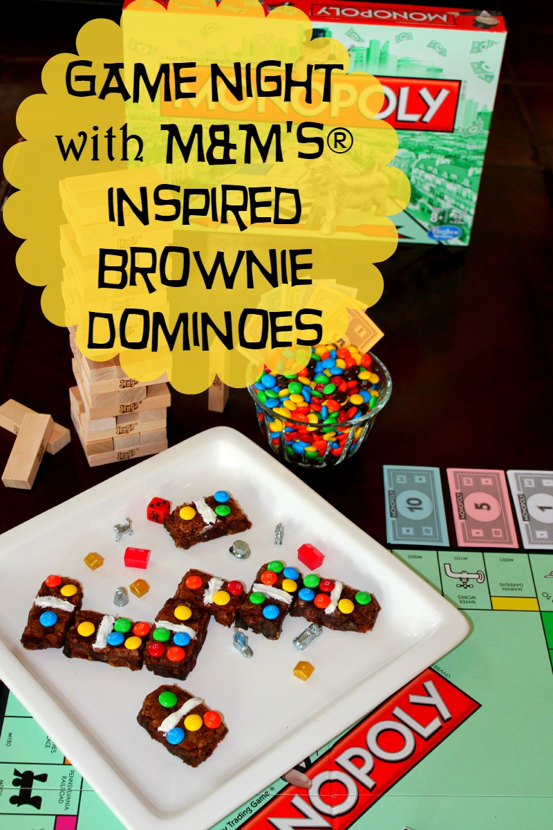 Game Night with M&M's® Brownie Dominoes