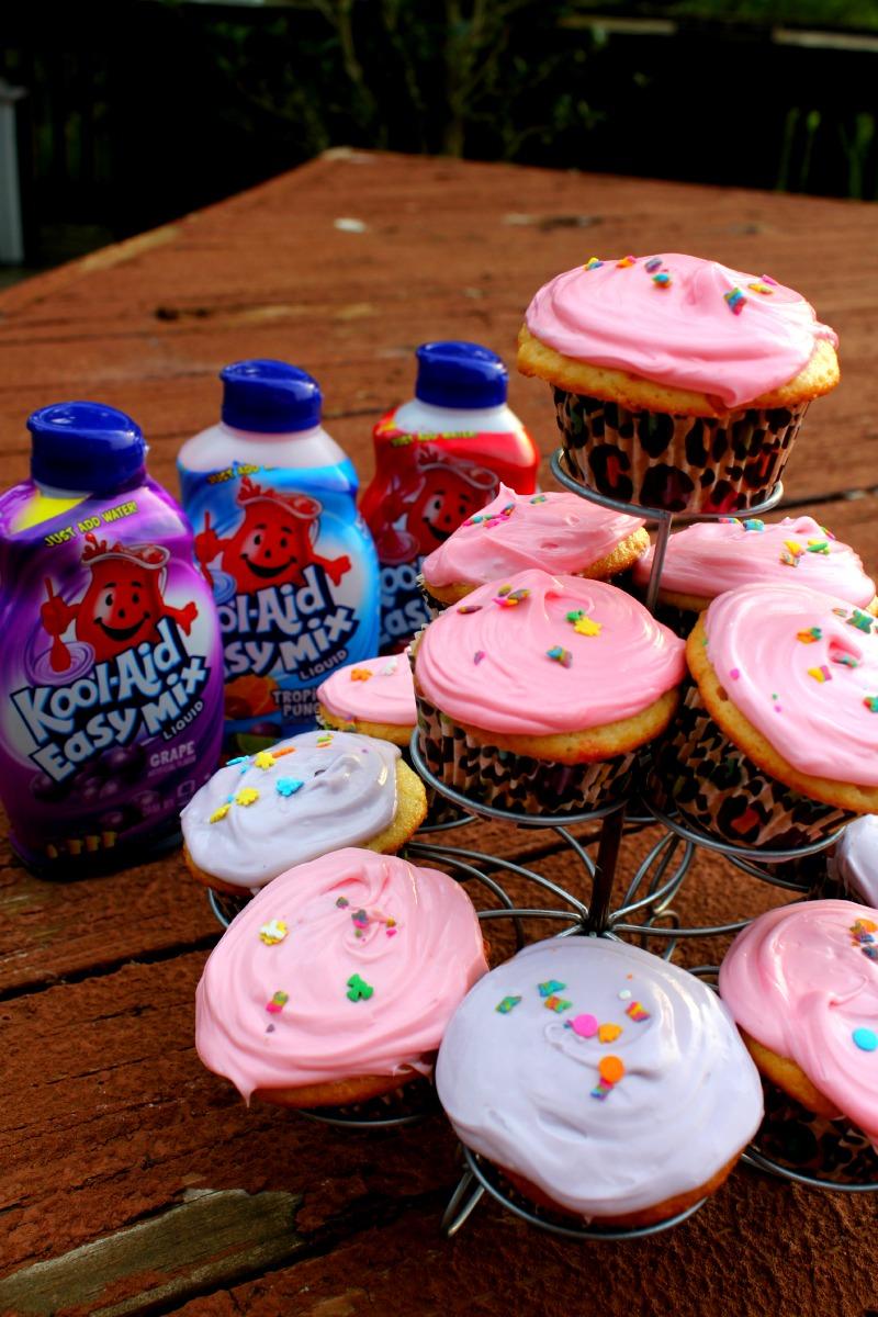 Kool-Aid Poke Cupcakes