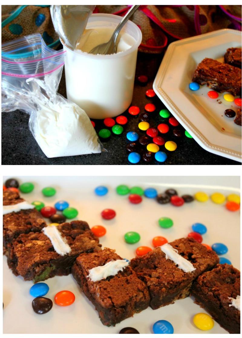 Making M&M's® Domino Brownies