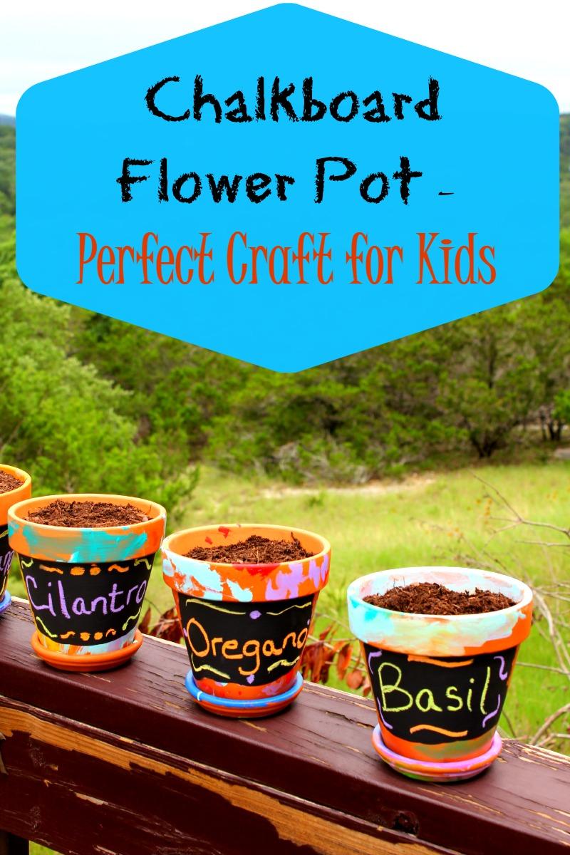 Chalkboard Flower Pot