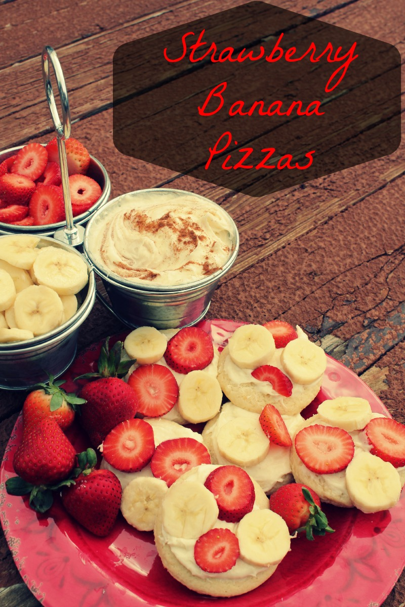 Strawberry Banana Pizzas