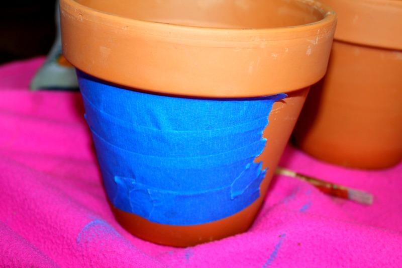Tape Flower Pot