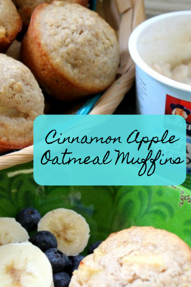 My family loves muffins and they are not only simple to make but they can be made in different varieties and can also be frozen for later use. Since I am overly obsessed with cinnamon and my kids love apples, I decided to make some Cinnamon Apple Oatmeal Muffins.