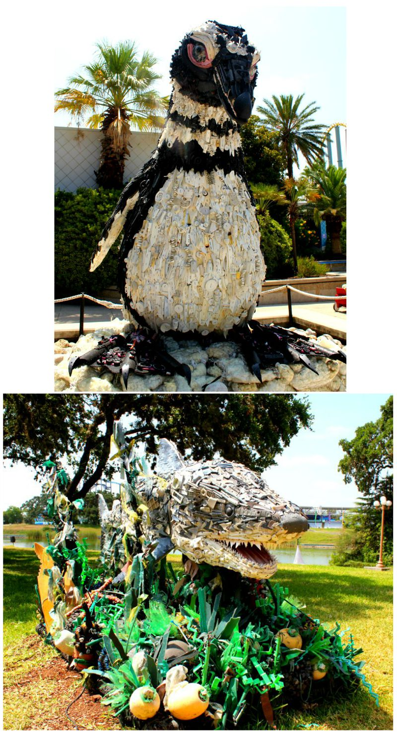 Statues Made From Trash at Sea World