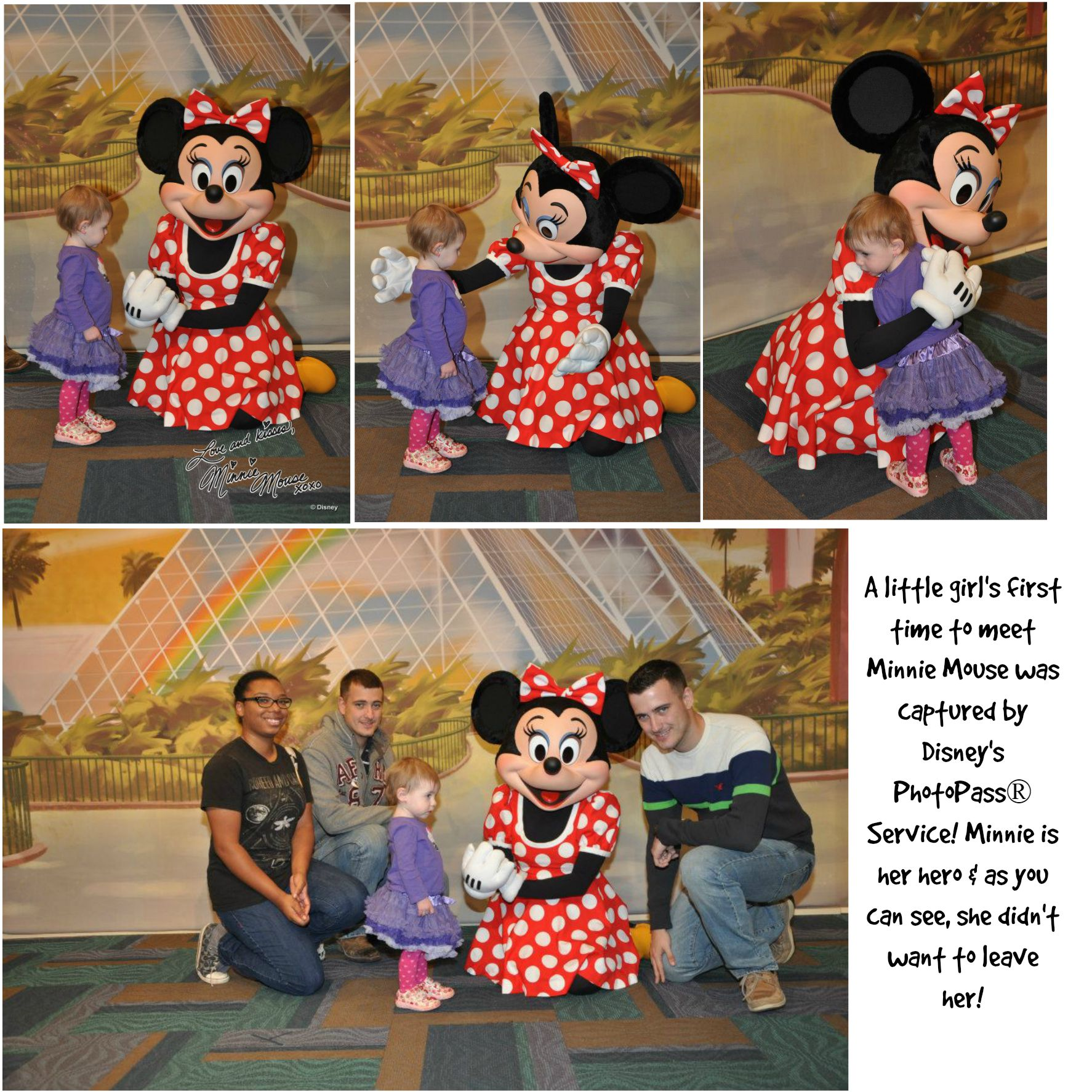 First time to meet Minnie