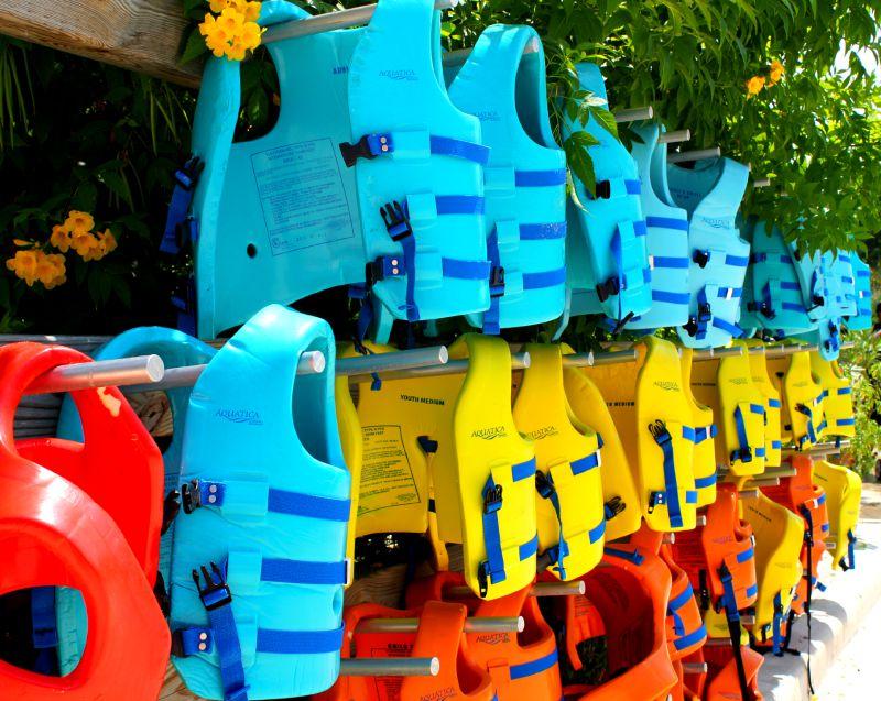 Life Vests at Aquatica