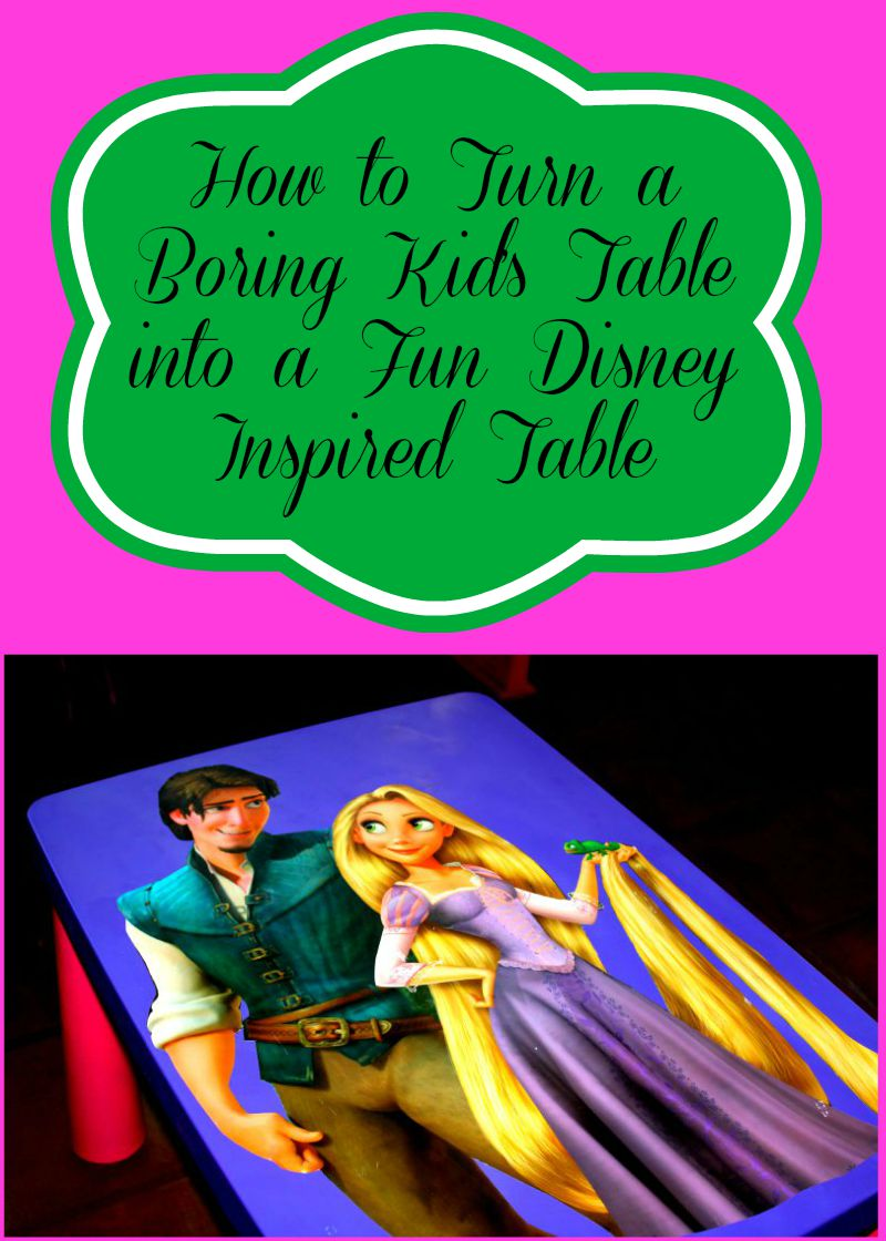Turn A Boring Kids Table Into Disney Inspired