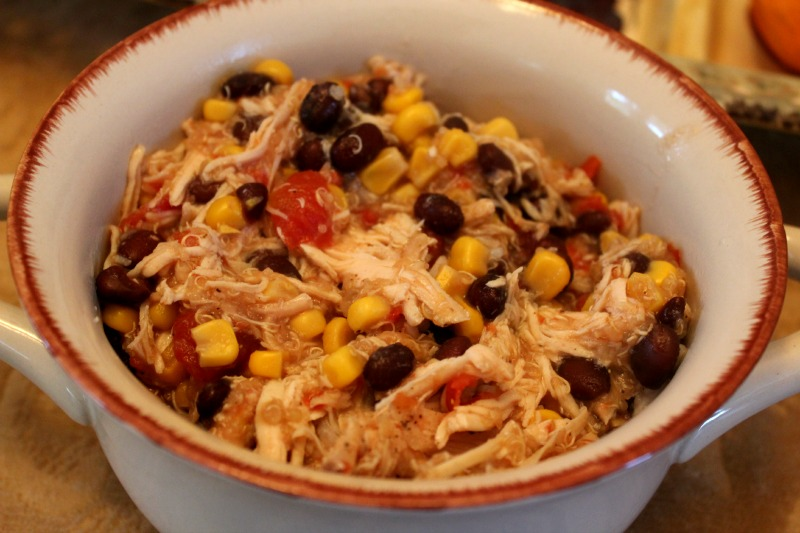 Bowl of Slow Cooker Quinoa Chicken
