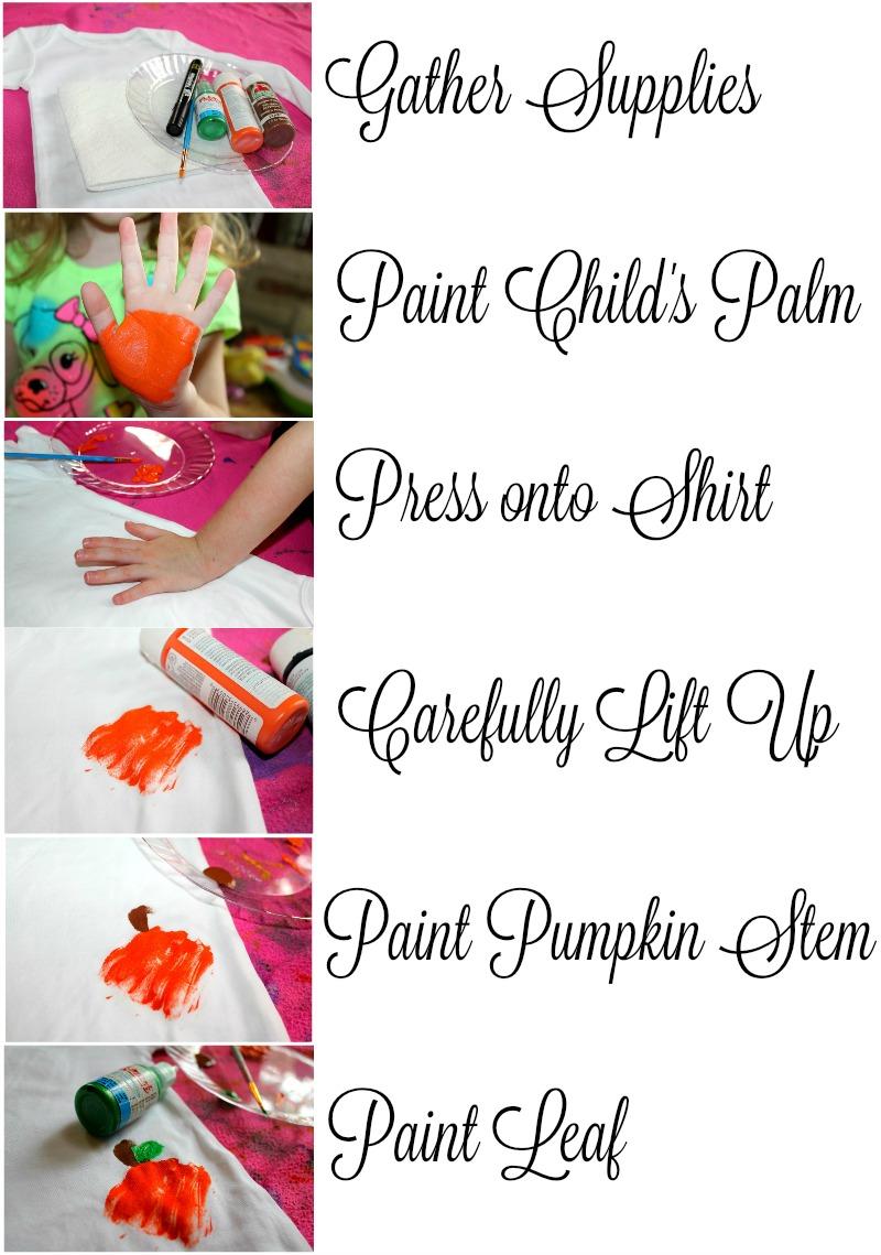Instructions for DIY Pumpkin Shirt