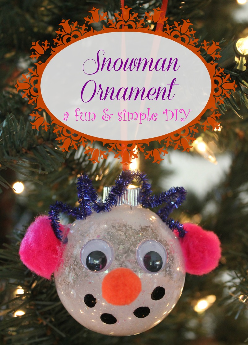 Diy Snowman Ornament House Of Faucis