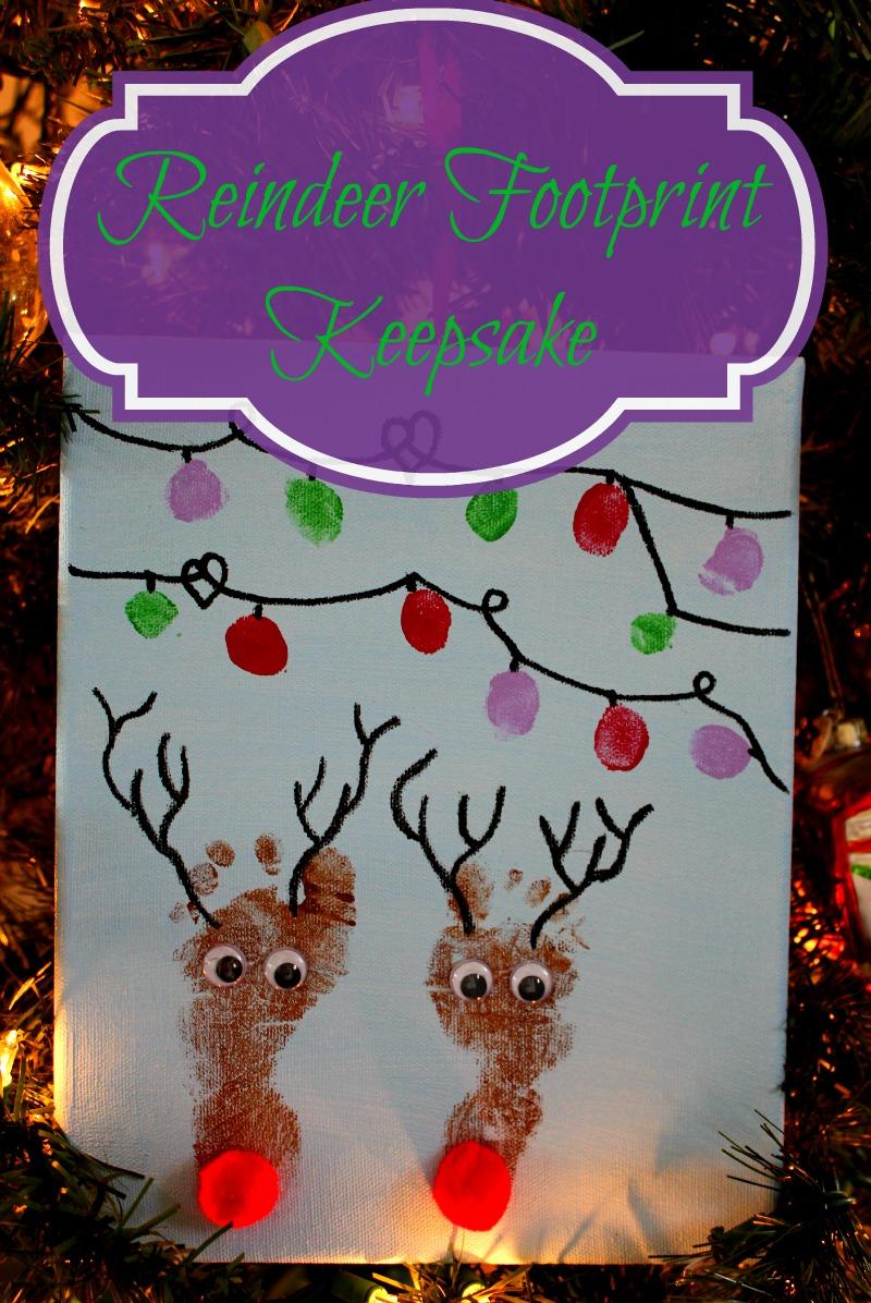 Reindeer Footprint Keepsake