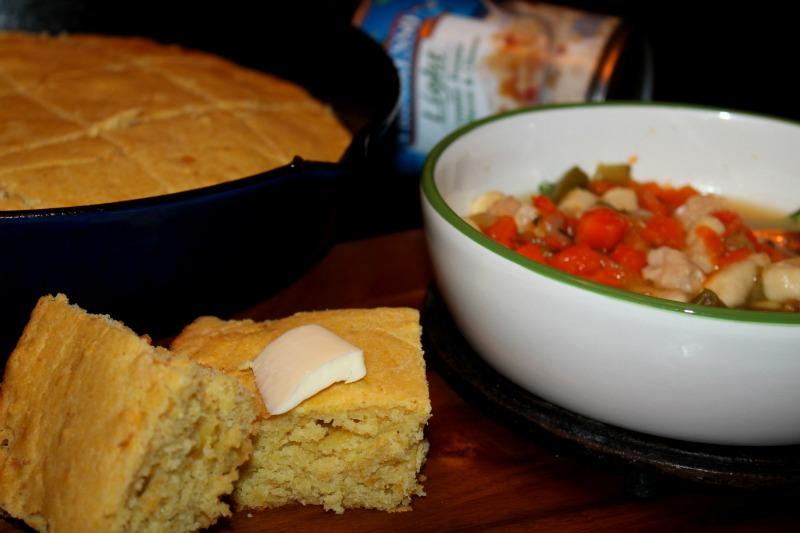 Progresso Soup and Cornbread