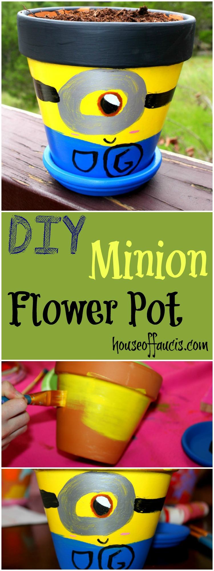 DIY Minion Flower Pot