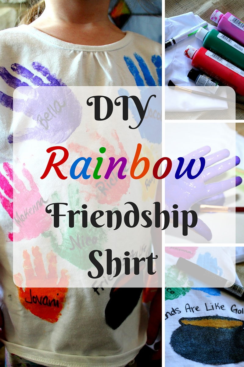 DIY Rainbow Friendship Shirt