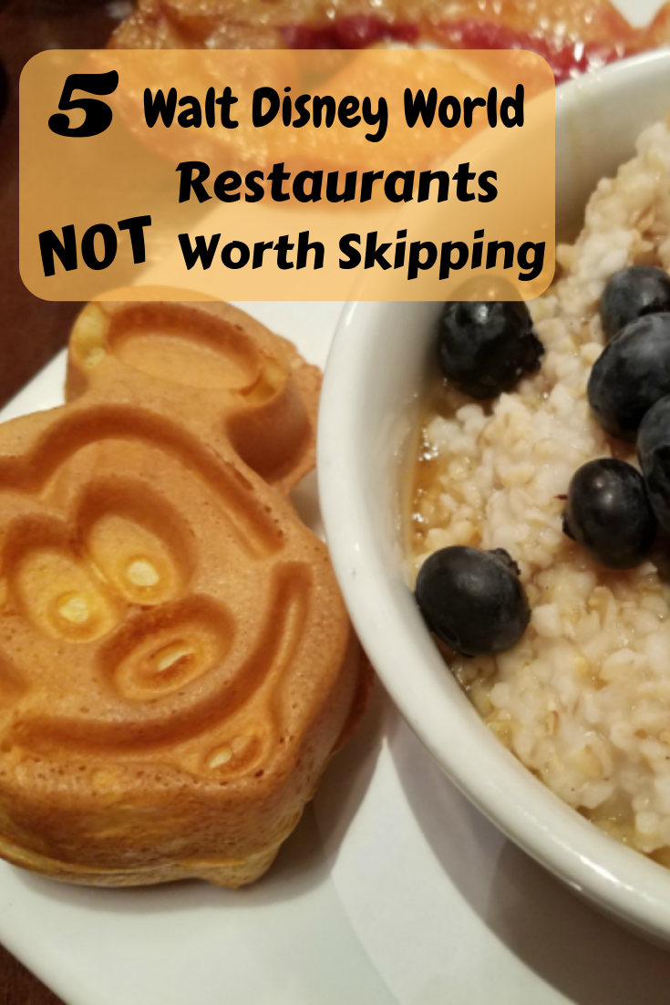 I think that Walt Disney World has some of the most amazing chefs, so I thought I would make a list of my 5 Walt Disney World Restaurants NOT Worth Skipping.