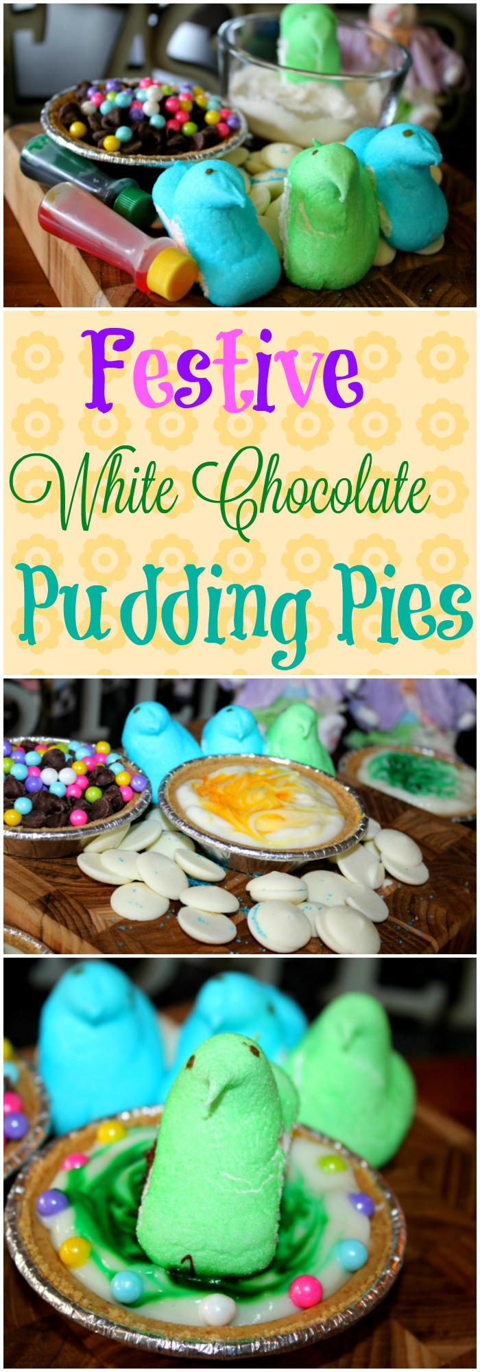 Festive White Chocolate Pudding Pies
