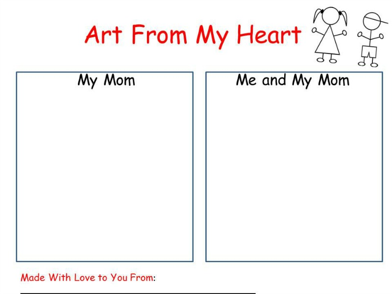 Art From My Heart Printable