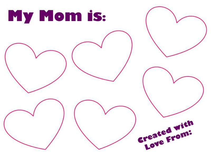 Printable My Mom is: