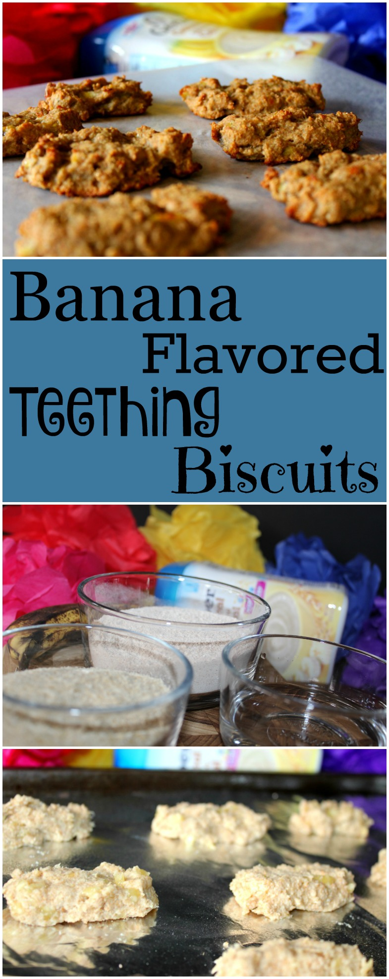 Banana Flavored Teething Biscuits Made with Gerber Cereal