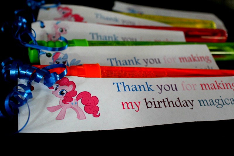 Birthday Bubbles With My Little Pony Printables