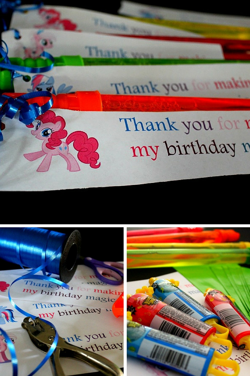 My Little Pony Party Bag Printables