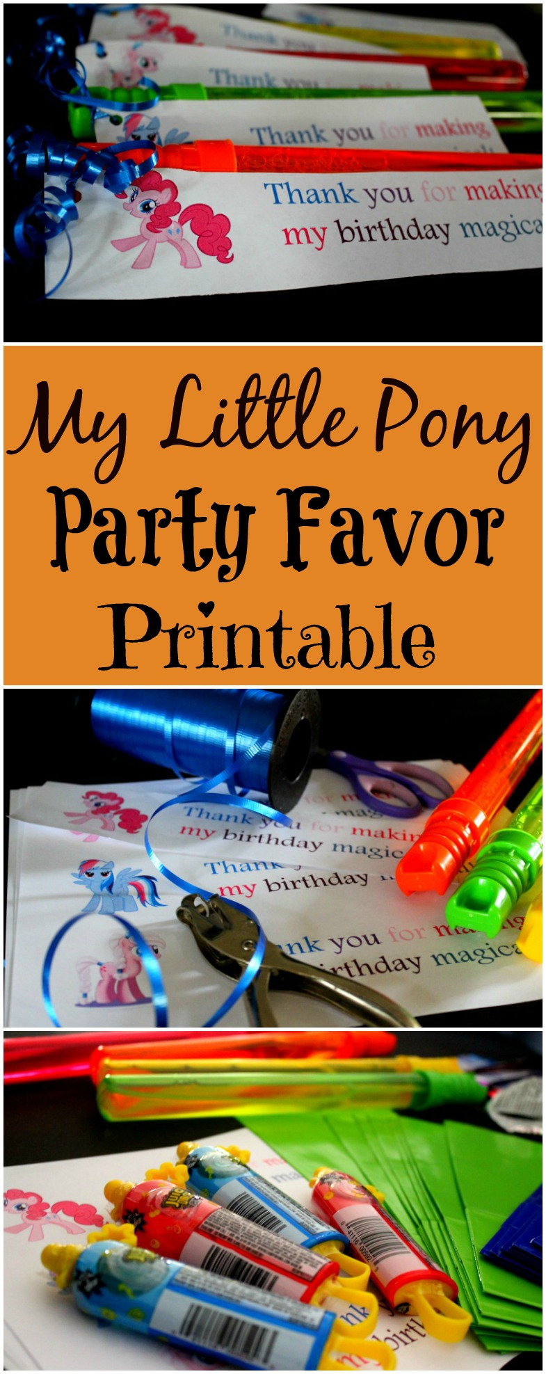 My Little Pony Party Favor Printable