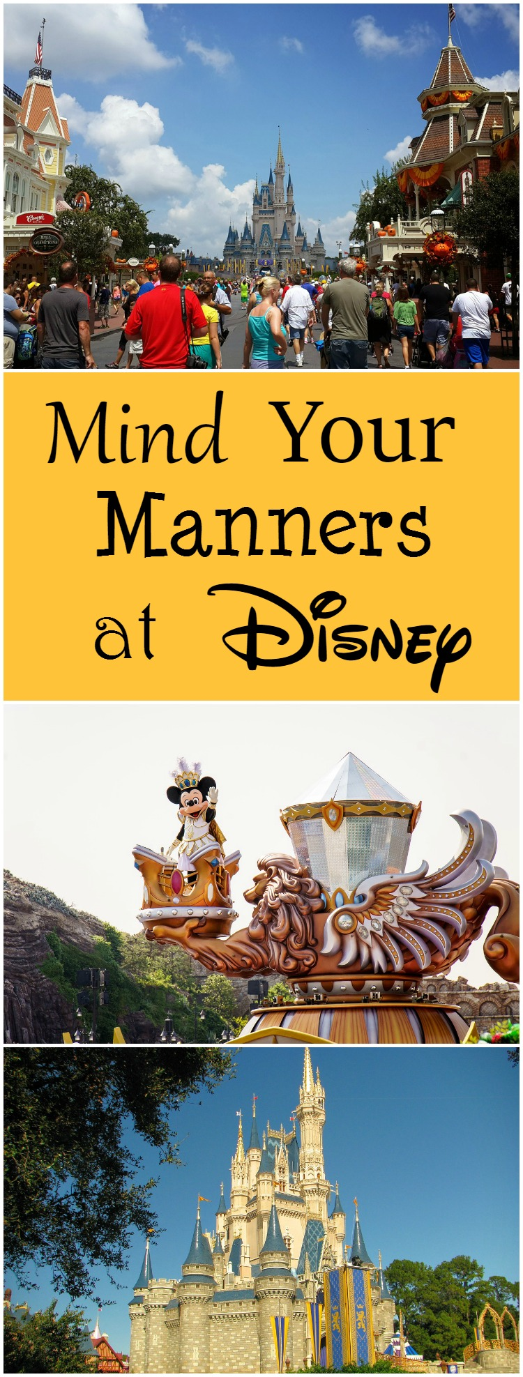 Disney is a Magical Place So It's Important to Mind Your Manners While at Disney