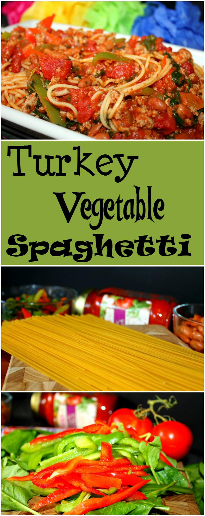Turkey Vegetable Spaghetti is Full of Delicious Vegetables