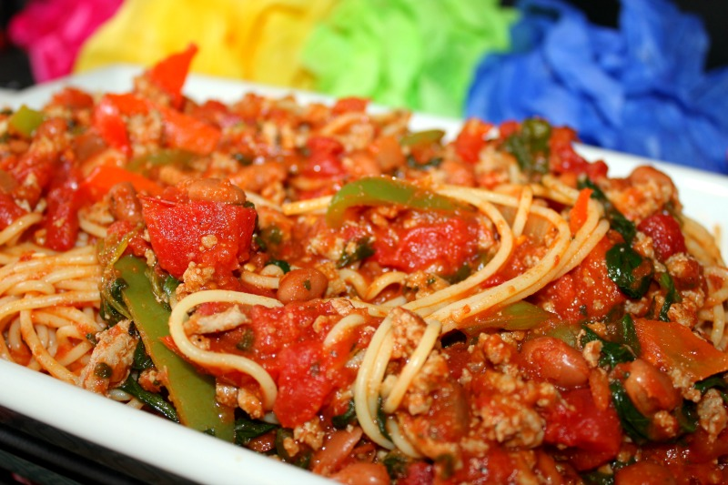 Turkey Vegetable Spaghetti