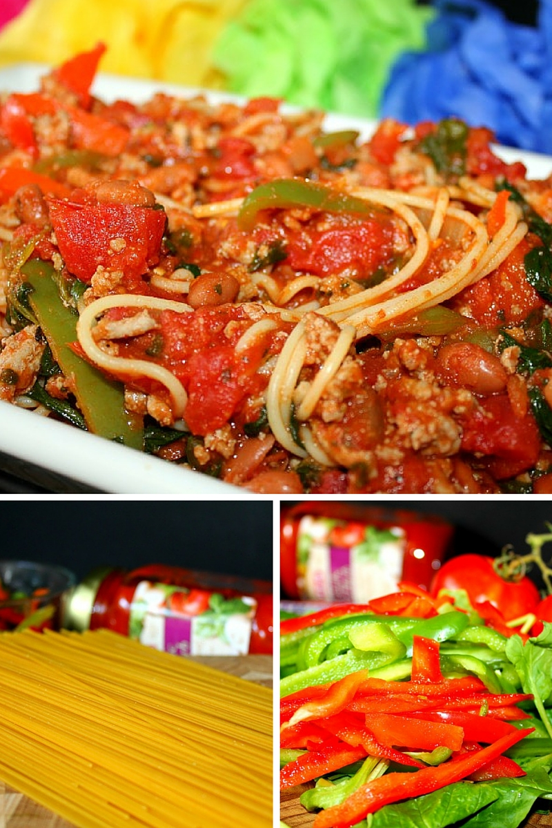 Vegetable Turkey Spaghetti