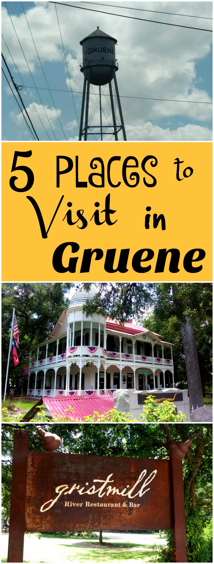 Gruene is a beautiful area located next to New Braunfels. Here are 5 Places to Visit in Gruene.