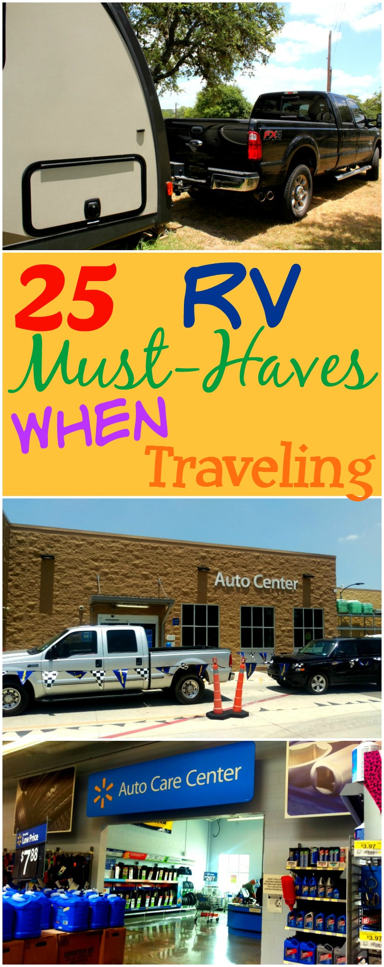 A Helpful List of RV Must Haves When Traveling