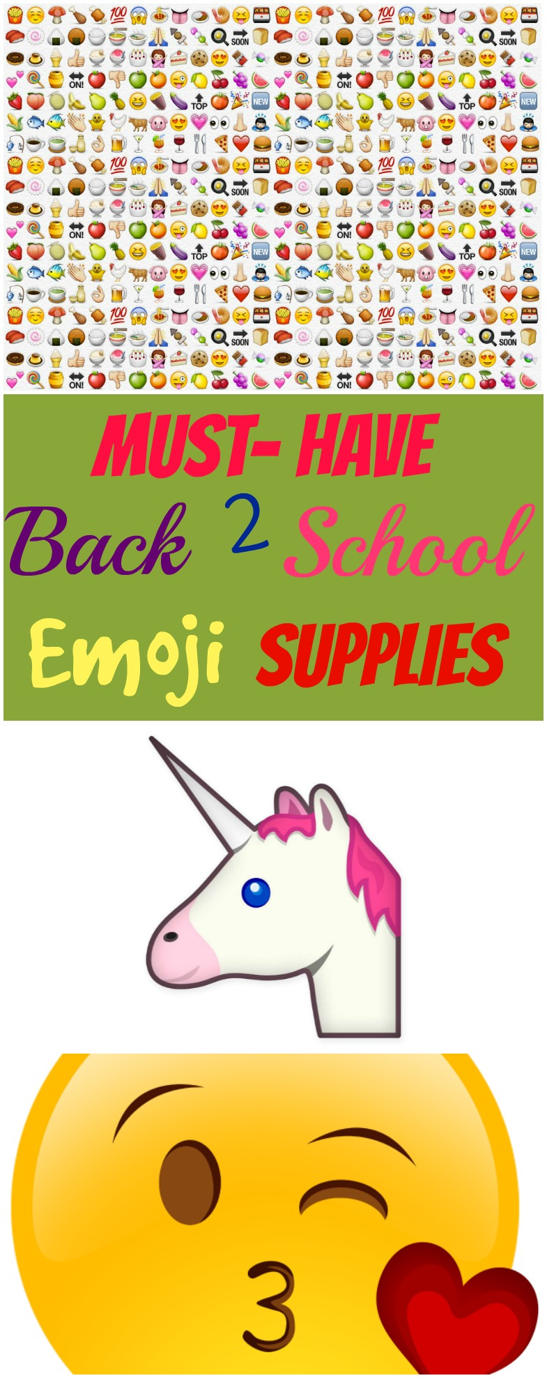 Must Have Back to School Emoji School Supplies