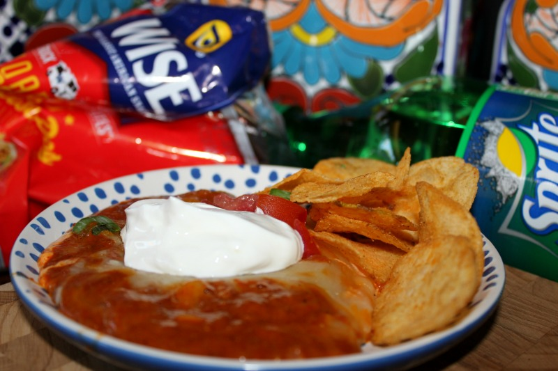 Chili Layer Dip with Wise Chips