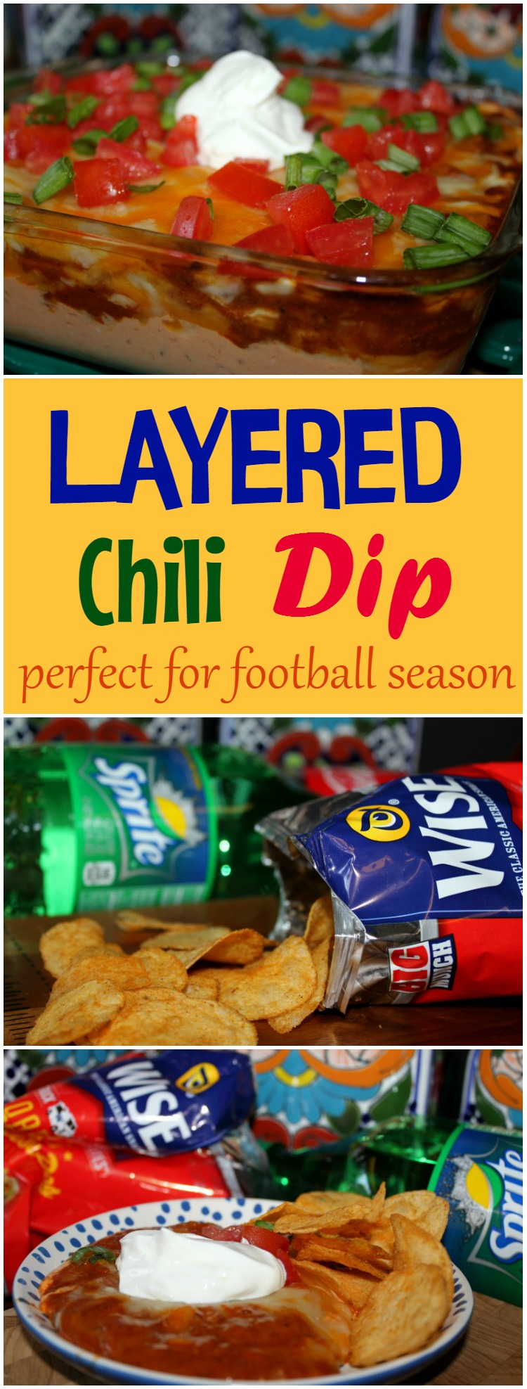 Layered Chili Dip Perfect for Football Season and Tailgating