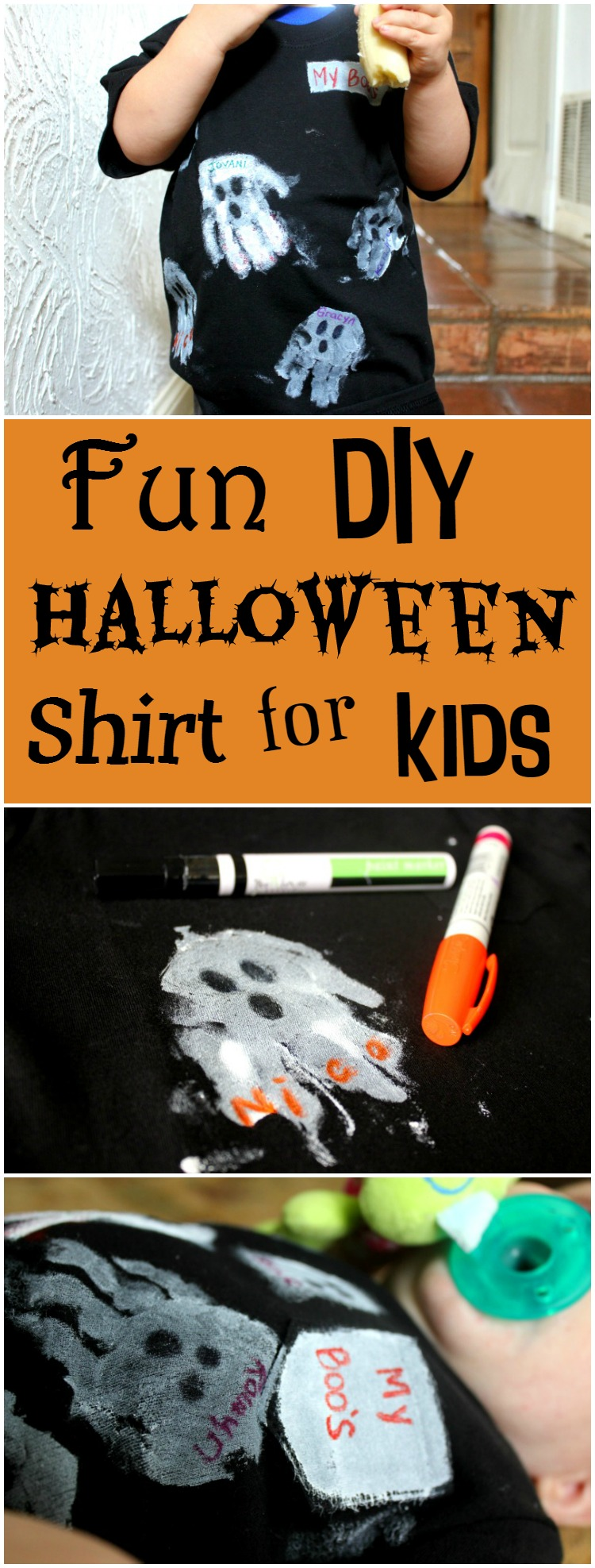 A fun Halloween shirt for kids to make with friends