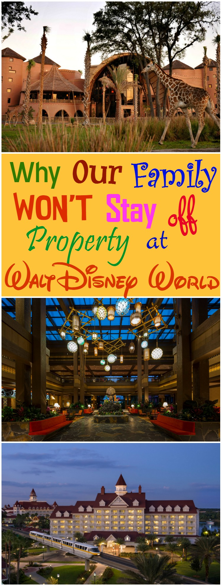 Why our family wont stay off property at Walt Disney World