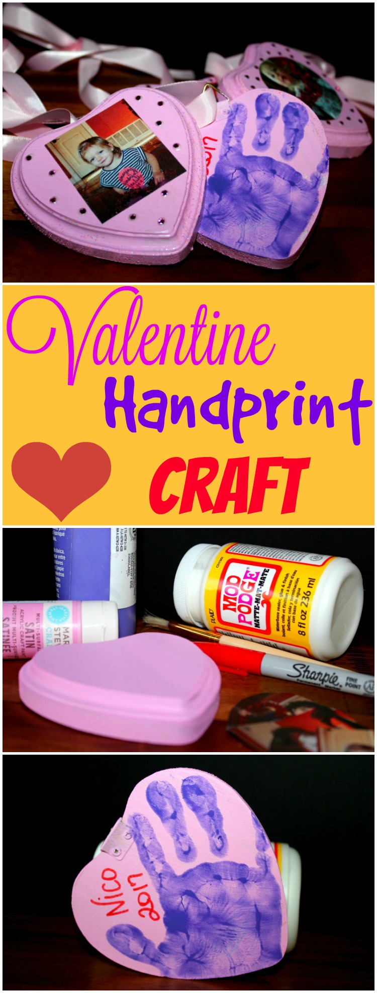 This is the perfect keepsake for little hands to make for loved ones for Valentine's Day.