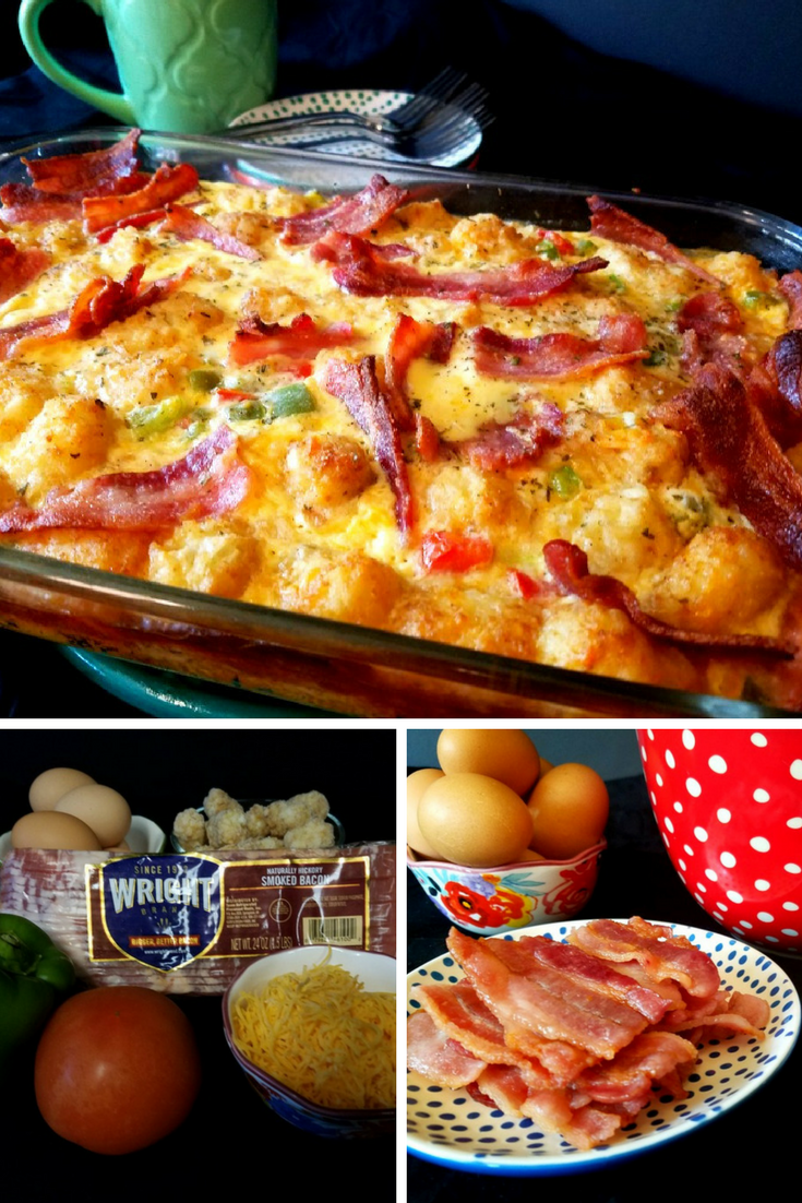 Tater Tot Bacon Casserole the Perfect Breakfast for Father's Day