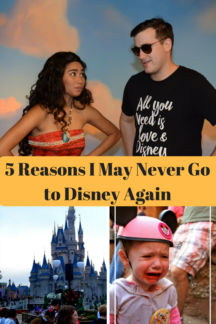My family normally LOVES Disney, but after our last vacation I came to realize that we may never go back because of these reasons.