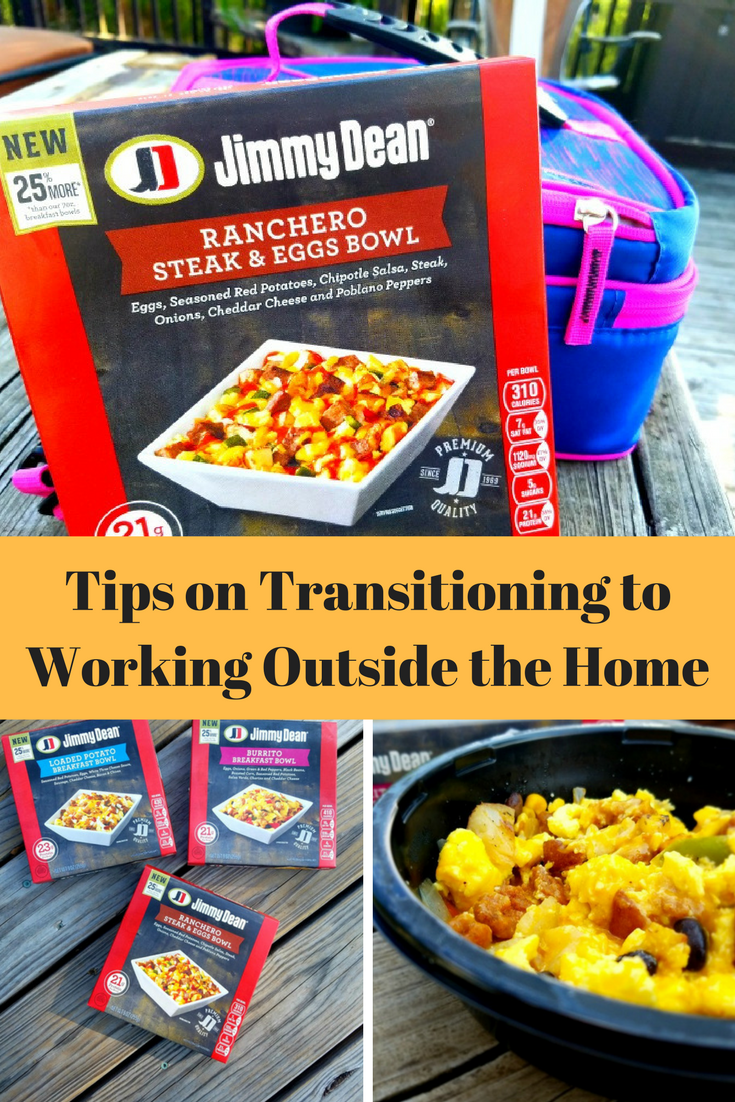 After working at home, going back to working outside of the home can be hard. Here are some tips to make the transition easier.
