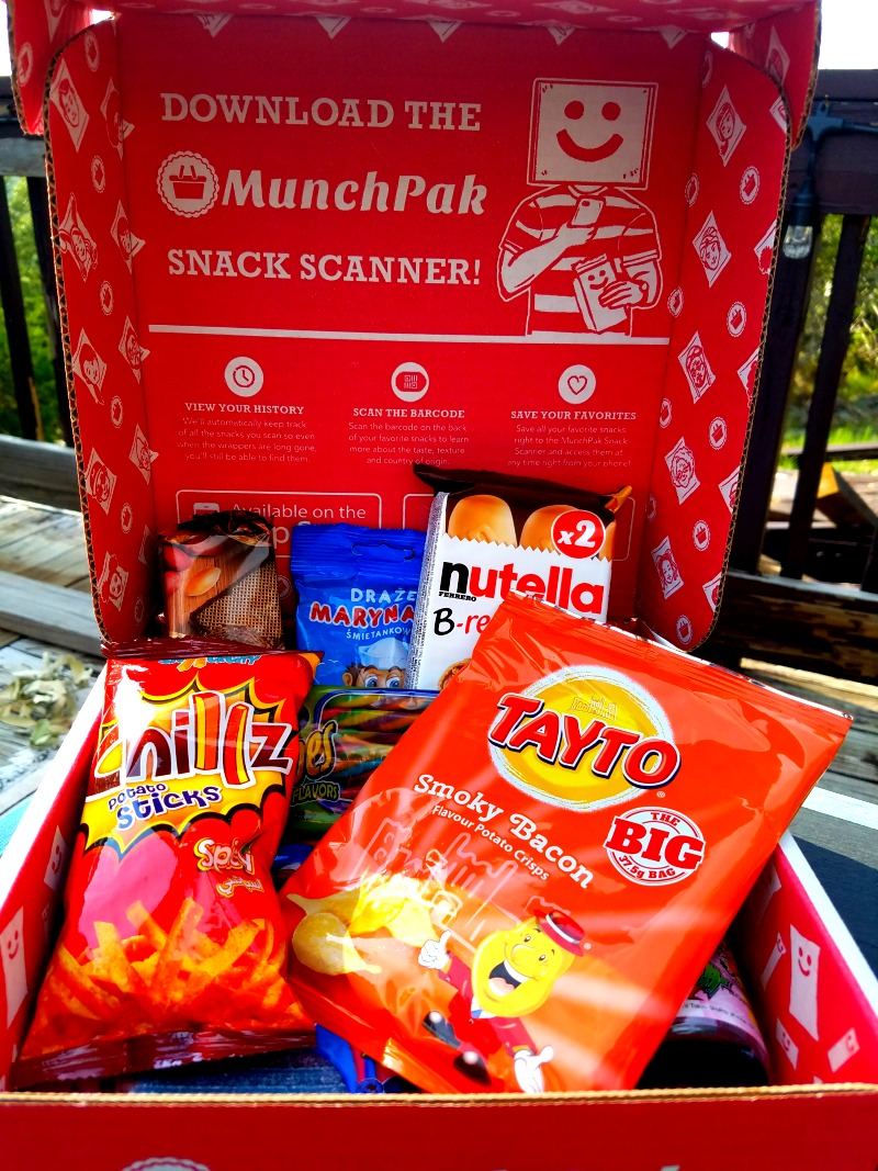 MunchPak is a subscription box that includes a variety of snacks from all over the world.