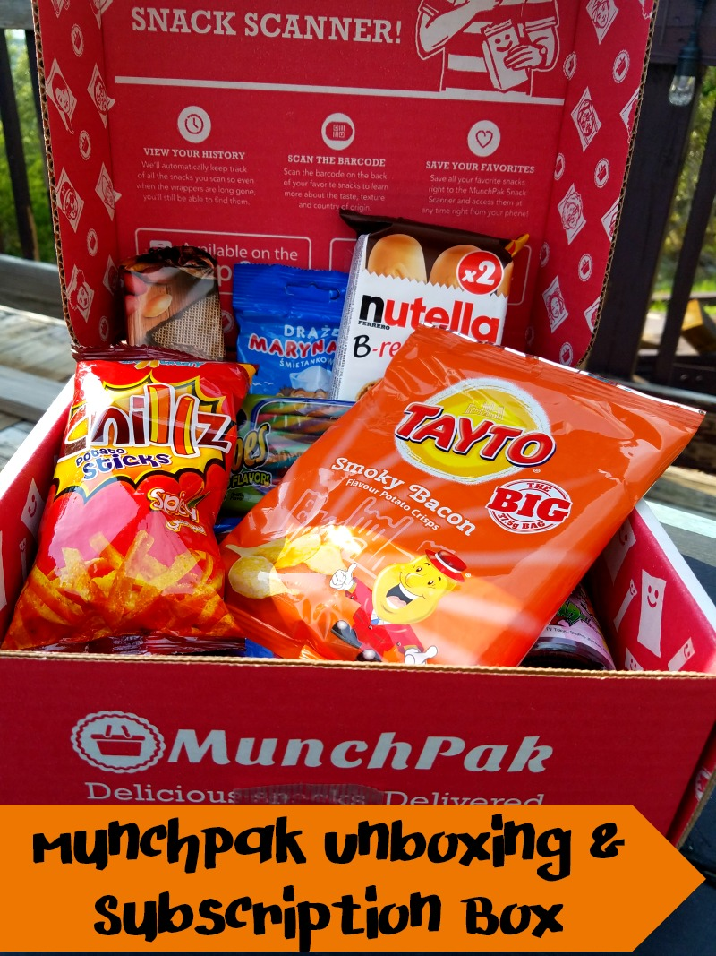 A monthly subscription box that includes snacks from around the world.